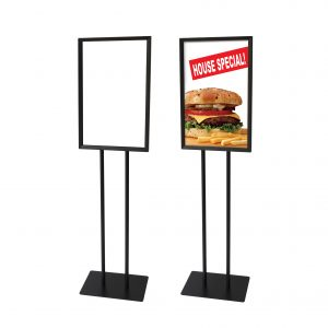 """Bulletin Sign Holder with Frame: 14""""W x 22""""H"""