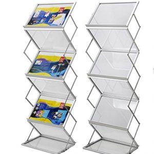 Premium 7 Double Shelf Brochure Stand