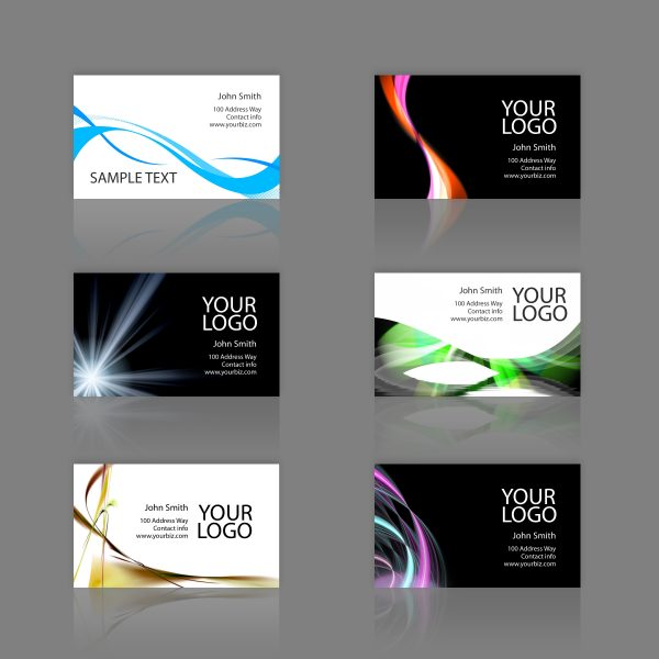 6 samples of Business Cards