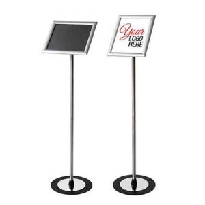 """Sign Holder Stand with Frame Size: 10 1/2""""x13"""" and Image Size: 8 1/2"""" x 11"""""""