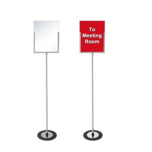 """Sign Holder Stand with Image Size: 10 3/4""""W x 14""""H"""