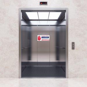 Open Elevator Decal