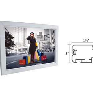 "Slim Lightbox with Frame size 27""W x 19""H x 1""D"