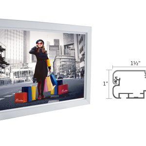 "Slim Lightbox with Frame size: 35""W x 25""H x 1""D"