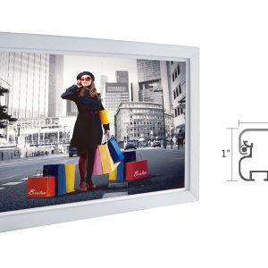 "Slim Lightbox with Frame size: 51""W x 27""H x 1""D"