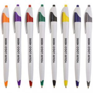 Click Pens aligned vertically